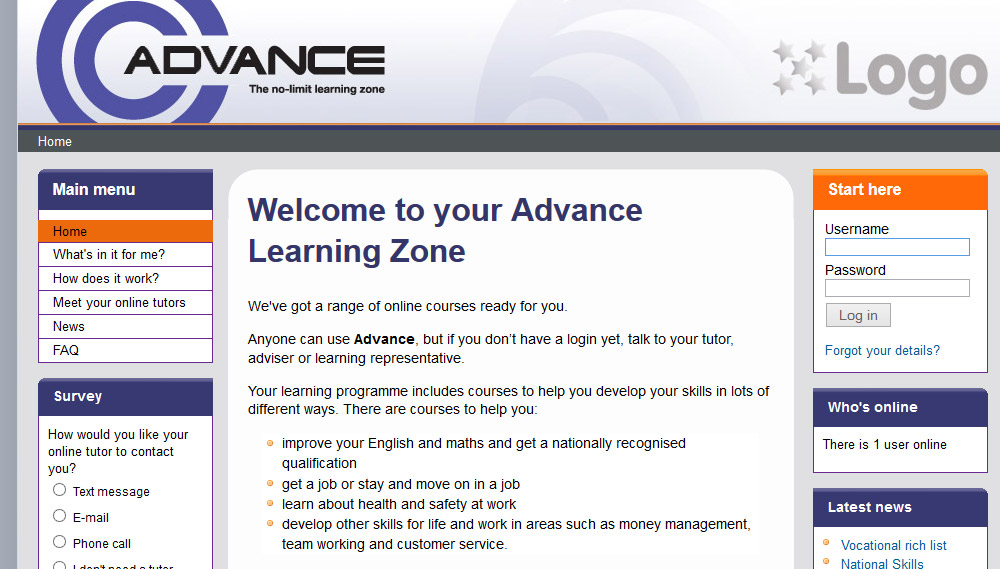 Project: Advance Learning Zone